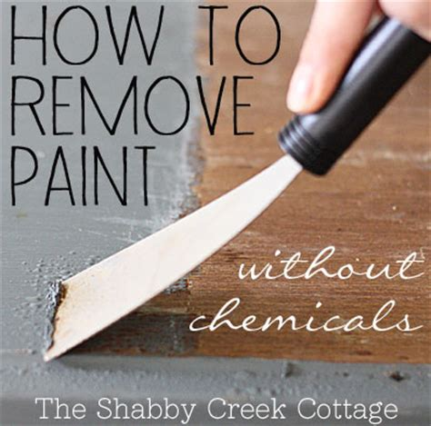 remove paint  furniture  chemicals step