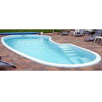 Pool 1 50 Tief by Gfk Schwimmbecken In Nierenform Mit Treppe 8 30 X 3 70 X 1