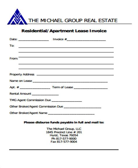 real estate brokerage bill format bhvc