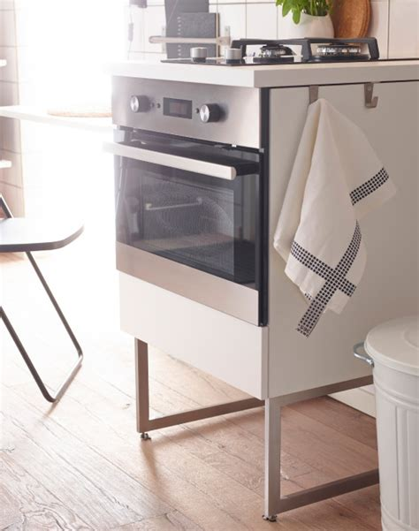 kitchen cabinets with legs modern white ikea kitchen with free standing units