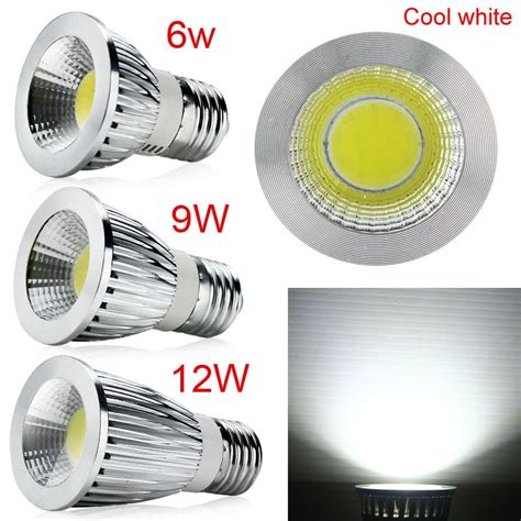 gu10 e27 mr16 dimmable cool warm white cob led spot lights