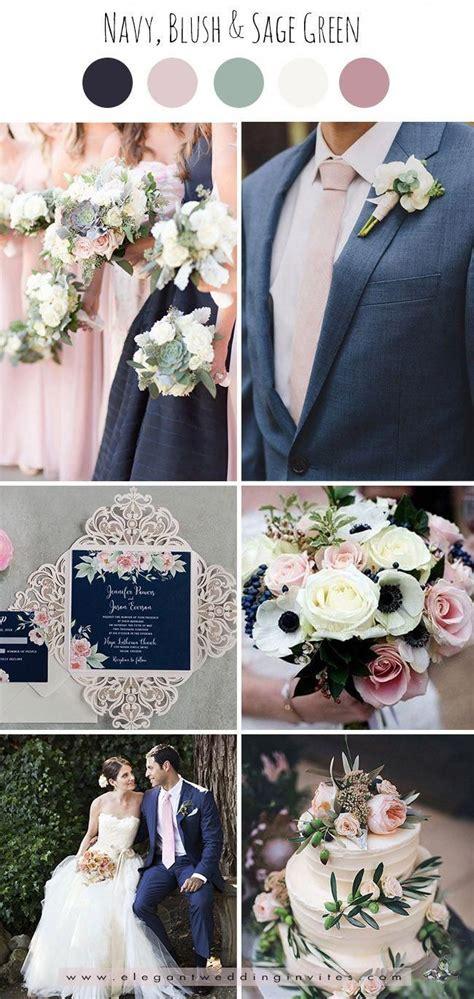 classic navyblush pink  sage green wedding color
