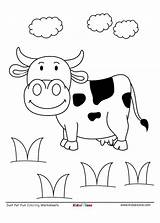 Cow Coloring Worksheet Field Downloaded Pdf sketch template