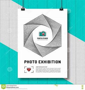 exhibit label template - photo exhibition design template poster or flyer stock