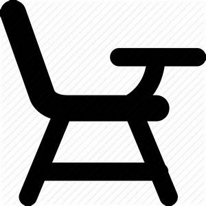 Chair with armed desk, chair with desk attached, class ...