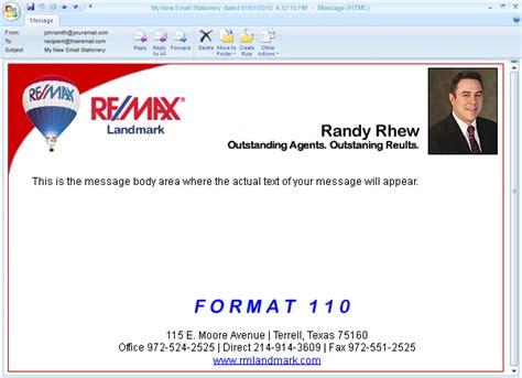 custom designed email letterhead