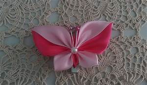 Attache Rideau Pince : hair clip with satin butterfly kanzashi butterfly hair barrette christmas gift for little girl ~ Melissatoandfro.com Idées de Décoration