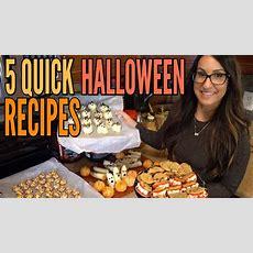 5 Quick Easy Halloween Recipes Youtube