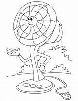 Fan Electric Coloring Ceiling Clipart Cartoon Table Clip Template Printable Colorear Dibujos Az Para Sketch Getdrawings Templates Getcolorings Library sketch template