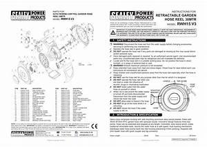 Rwh15 V3 Retractable Garden Hose Reel 30mtr Instructions