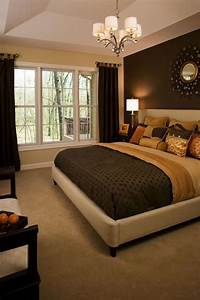 Wall decor for master bedroom : Master bedroom paint one side wall i like the dark color