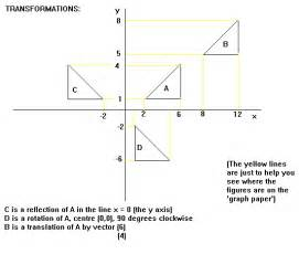 geometry translation worksheets transformations mathematics gcse revision