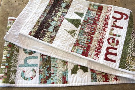 merry cheer quilted christmas table runner pattern