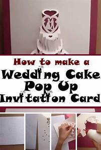 Make An Invitation Diy Wedding Cake Pop Out Invitation Card Make Your