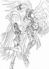 Angewomon Angemon Coloring Colorir Deviantart Larger Credit sketch template