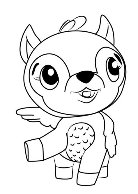 hatchimals coloring pages  boys deeraloo super