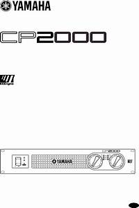 Yamaha Stereo Amplifier Cp2000 User Guide