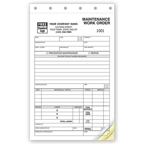 19885 work order form work order forms designsnprint