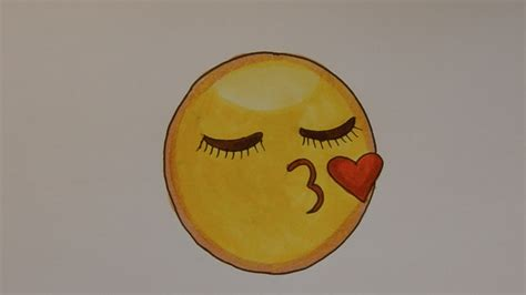 How To Draw The Kissy Face Emoji