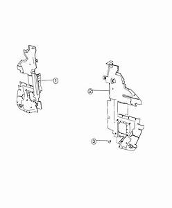2017 Dodge Journey Seal  Shield  Radiator Side Air  Side