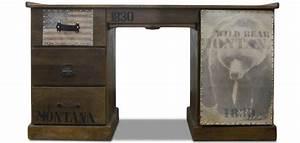Bureau Vintage Pas Cher : bureau vintage industrial wild bear bois pas cher ~ Teatrodelosmanantiales.com Idées de Décoration