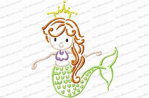 Mylar Embroidery Designs Mermaid Outline Embroidery Design Kris Rhoades