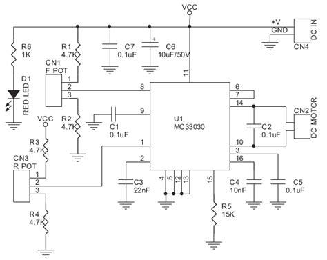 Wiring Diagram Dc Drive by Dc Servo Motor Driver Electronics Lab