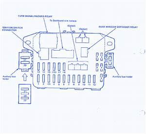 89 Honda Crx Fuse Box Diagram