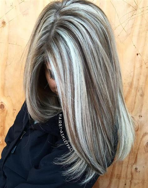 gray highlights ideas  pinterest gray hair