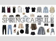 SPRING CAPSULE WARDROBE Project 333 YouTube