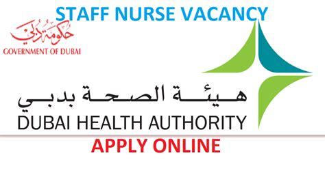 nursesvacancy dubai health authority direct