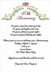 3 40th anniversary invitation wording ideas 40th With cheap 40th wedding anniversary invitations
