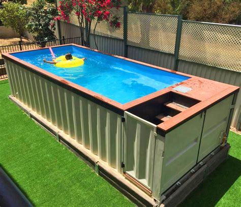 container swimming pool this company makes pools out of shipping containers and