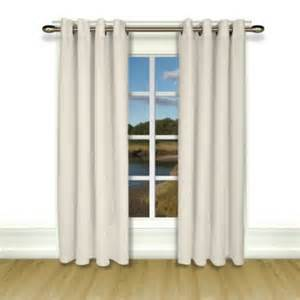 new castle lined grommet top curtain panel white