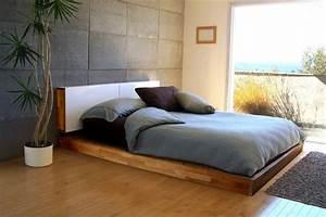 Lit Au Sol : lit au sol minimalisme confort et luxe ~ Teatrodelosmanantiales.com Idées de Décoration