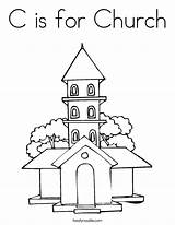 Church Coloring Simple Drawing Outline Sheets Twistynoodle Print Service Country Getdrawings Bible Built California Usa Craft sketch template