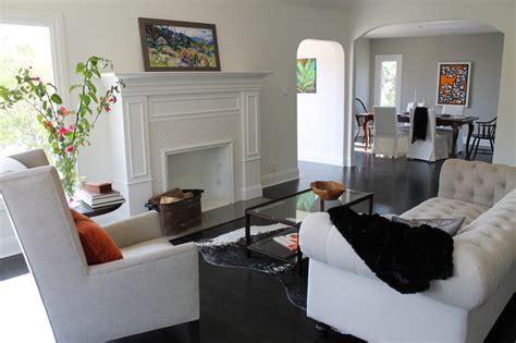 linen chesterfield sofa modern expressionist art