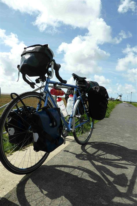 Loaded touring bikes