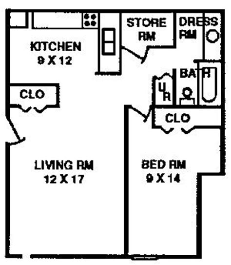 1 bedroom apartment typical floor plan quail creek