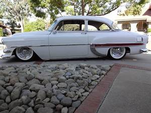1954 Chevy 2 Dr Bel Air V8 Auto Trans Custom Air Bag System Tilt Str Disc Brakes