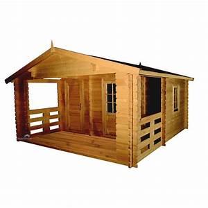 Chalet Bois Pas Cher : chalet jardin bois avec terrasse 21 5 m achat vente ~ Nature-et-papiers.com Idées de Décoration