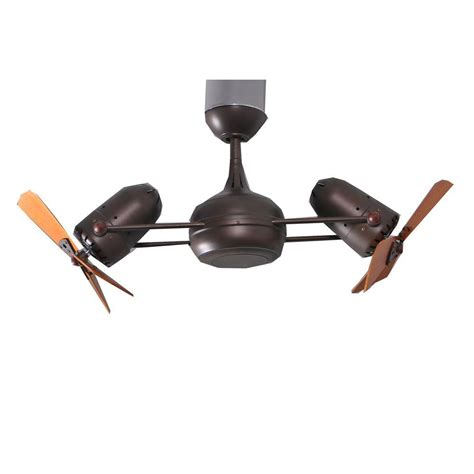 ceiling fan with double gale series 14 in textured bronze indoor double headed