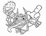 Trigger Dare Happy Double Colorear Dibujo Skylanders Dibujos sketch template