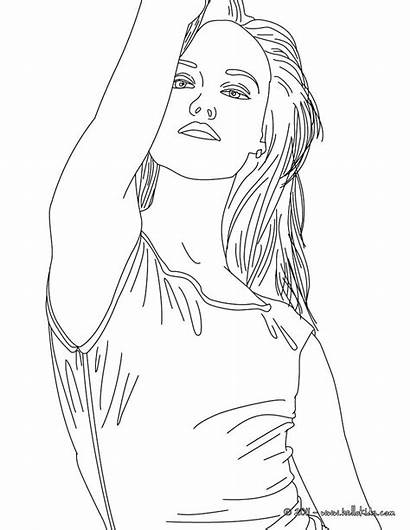 Coloring Pages Realistic Vanessa Paradis Person Singer