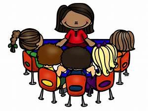 Teacher Reading Table Clipart - ClipartXtras