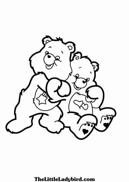 Coloring Care Bears Hug Colorir Hugs Printable