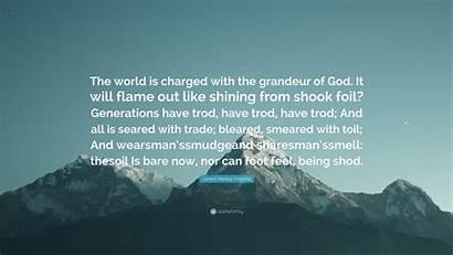 Hopkins Gerard Manley Grandeur Charged God Wallpapers