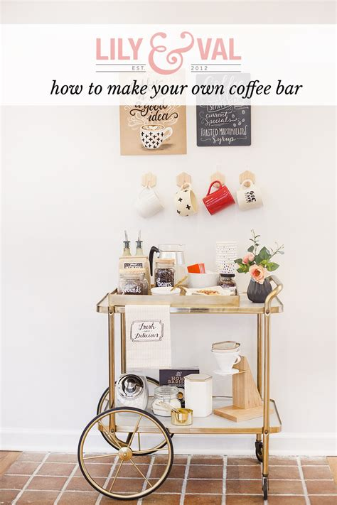 How To Make A Bar by How To Make Your Own Coffee Bar Val Living