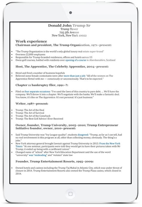 Donald Curriculum Vitae by 12 Step Advert Checklist Hiring
