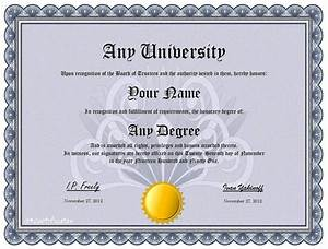 Create your own custom degree or diploma humor novelty ebay for Make your own deploma